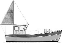 24' Noyo Trawler - trailerable commercial fishing