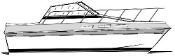 27' Tempest - flying bridge cabin cruiser