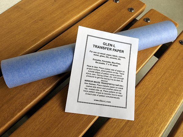 Blue Transfer Paper 1 foot x 16 foot