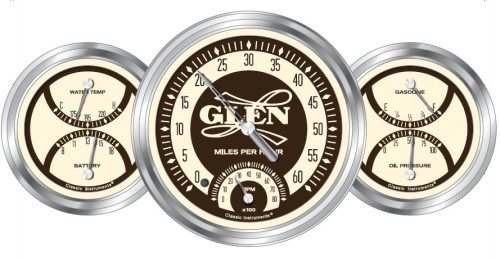 Gauges - Custom Glen-L Logo